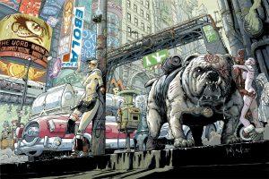 Una tavola di Transmetropolitan, capolavoro del fumetto distopico, scritto da Warren Ellis e disegnato da Derrick Robertson, aspetta solo la giusta produzione e il giusto regista che lo portino sul grande schermo.