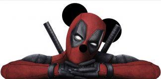 Deadpool è ora nel MCU. Qui è ritratto con delle finte orecchie da topolino, segno del passaggio a Disney.
