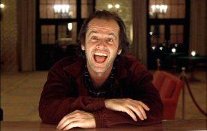 Jack Nicholson in una scena tratta dal Film Shining