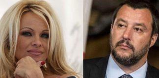 Pamela Anderson attacca, Salvini risponde