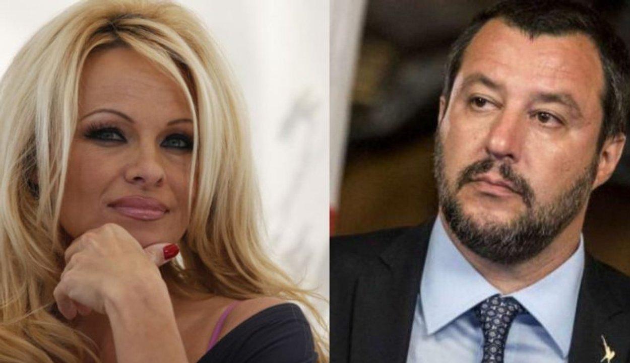 Pamela Anderson attacca Salvini: