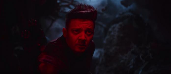 Clint Burton nello spot di Avengers: Endgame