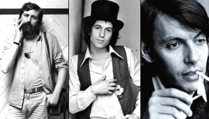 Francesco Guccini, Rino Gaetano e Fabrizio De André: tre tra i più grandi cantautori italiani.