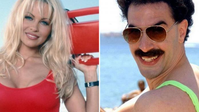 Pamela Anderson e Sacha Baron Cohen