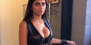 Mia Khalifa sul set di un Film Porno