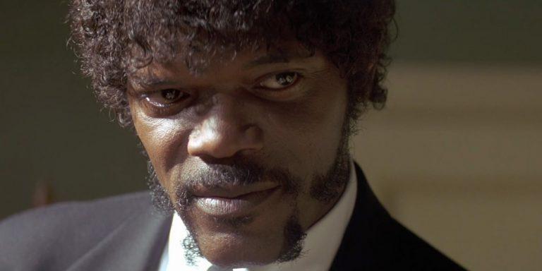 samuel L. Jackson nel film di Quentin Tarantino Pulp Fiction
