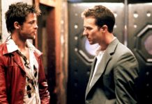 Brad Pitt ed Edward Norton insieme in Fight Club