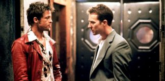 Brad Pitt ed Edward Norton insieme in Fight Club