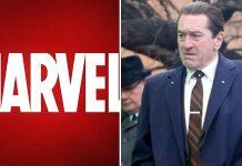 Robert De Niro e il logo Marvel