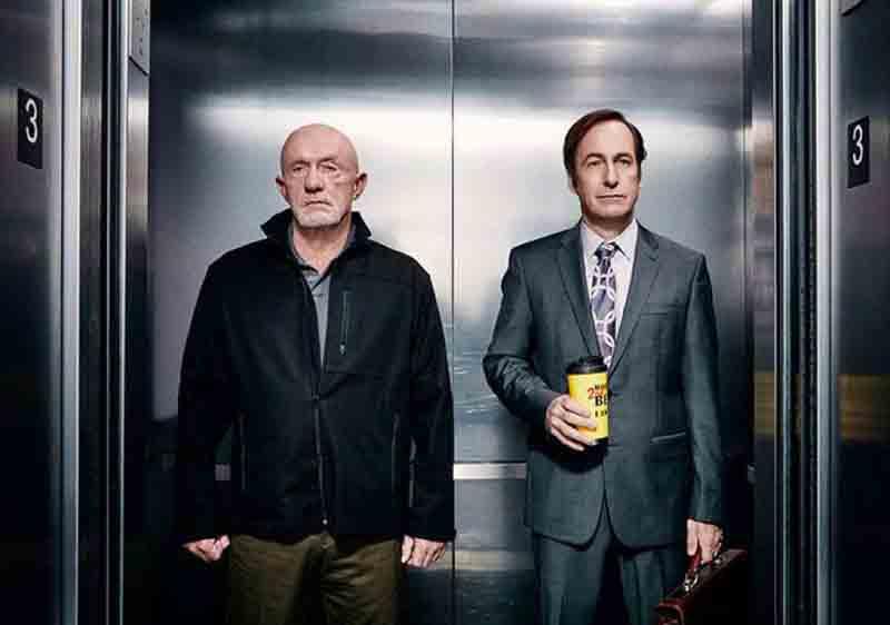 Mike e Saul nella serie TV Better Call Saul, spin-off di Breaking Bad