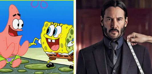 Keanu Reeves nel trailer di SpongeBob