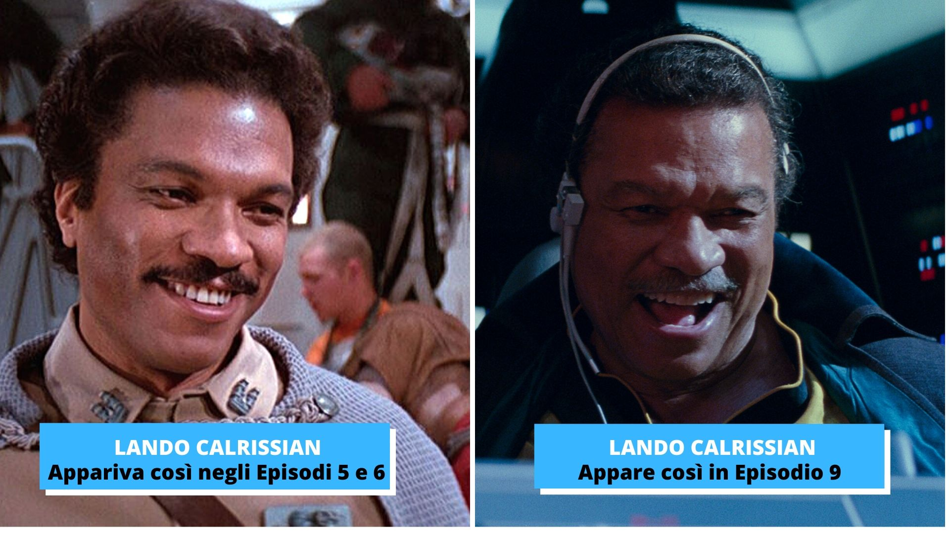 Lando Calrissian in Star Wars, prima e dopo