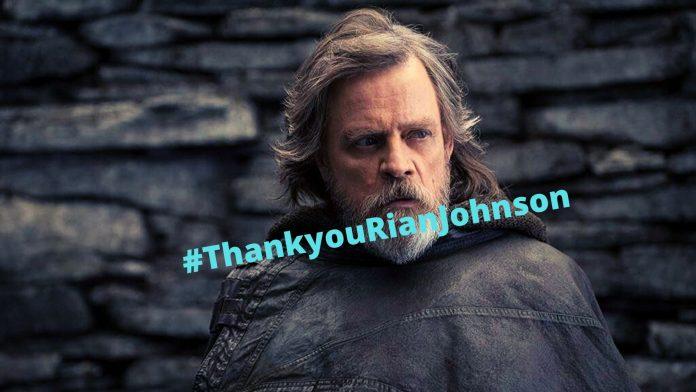 ThankyouRianJohnson - Luke Skywalker