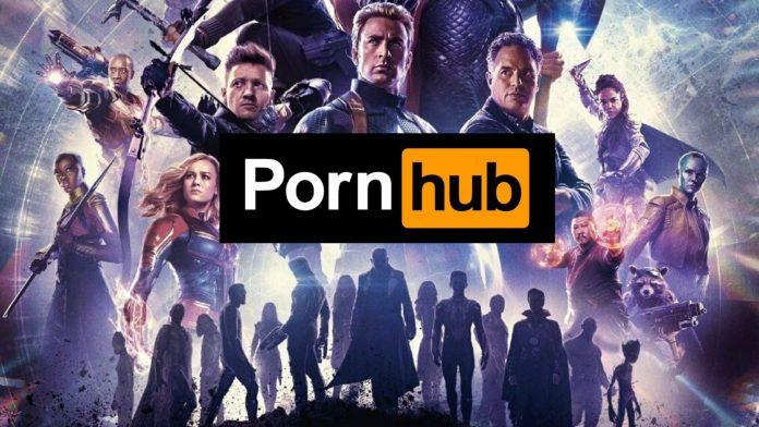 Il logo di pornhub e gli Avengers