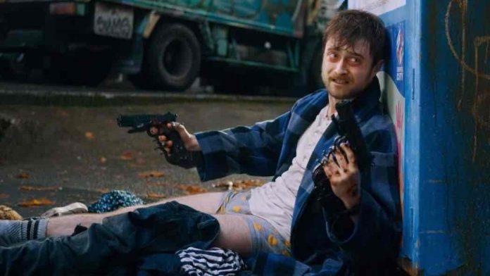 Una scena da Guns Akimbo, il nuovo film con Daniel Radcliffe