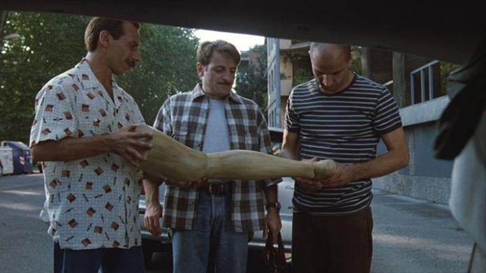 Aldo Giovanni e Giacomo in Tre uomini e una gamba