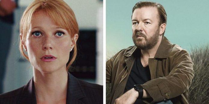 Gwyneth Paltrow e Ricky Gervais