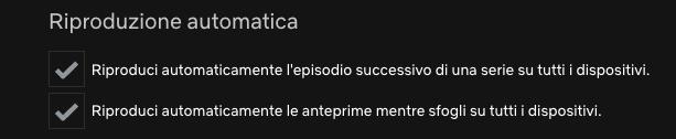 disabilitare la riproduzione automatica su Netflix