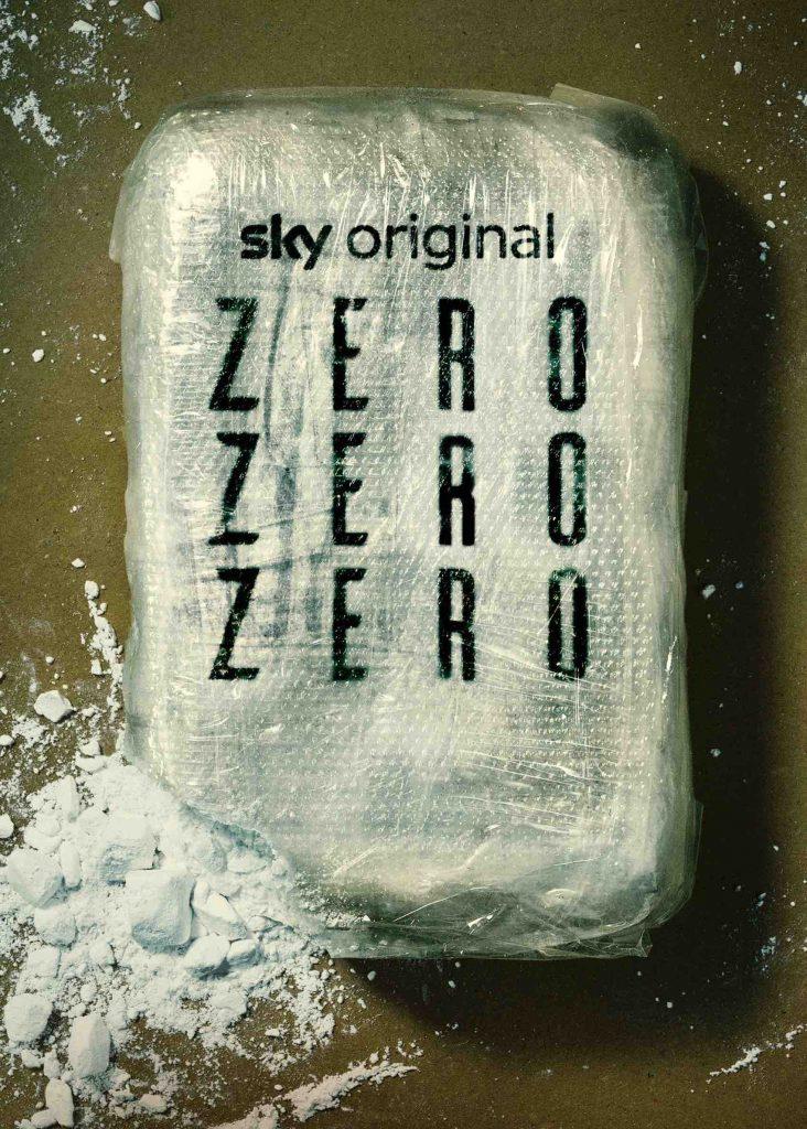 Una pacchetto di cocacina con la scritta sopra zerozerozero, ovvero il titolo della serie TV Sky
