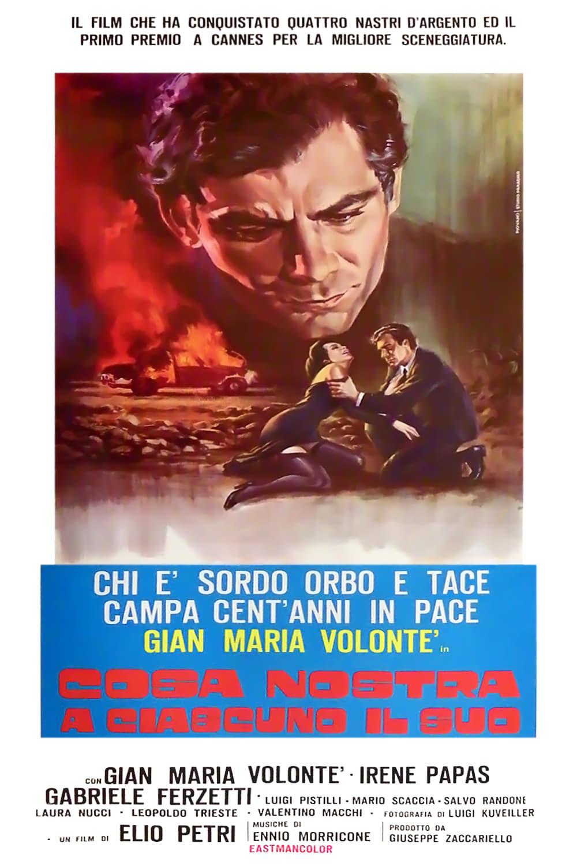 """Poster del Film """"A ciascuno il suo"""""""