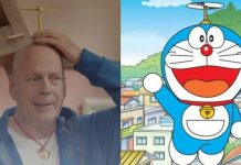 Bruce Willis e Doraemon