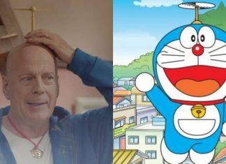 Bruce Willis e Doraemon