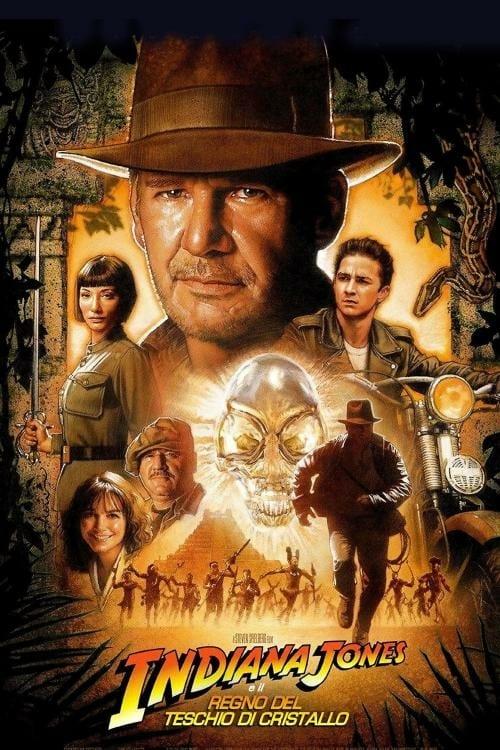 """Poster del Film """"Indiana Jones e il regno del teschio di cristallo"""""""