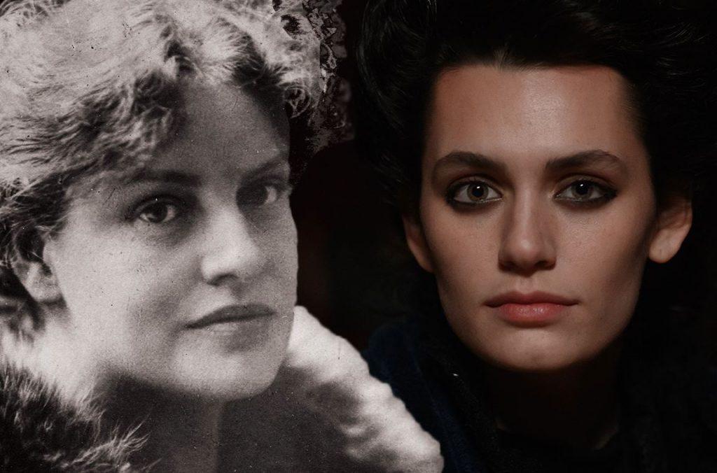 Una fotografia di Lou von Salomé a confronto con Fleur (interpretata da Ella Rumpf) in Freud