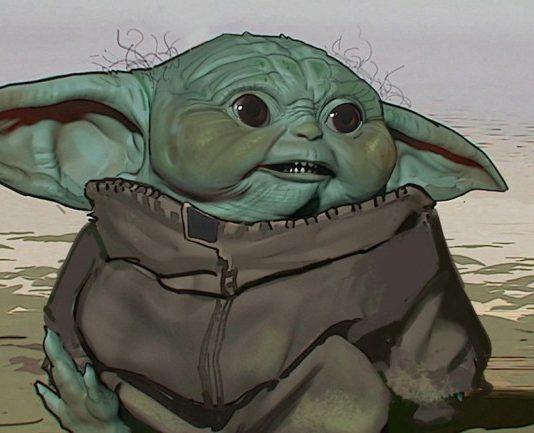 Baby Yoda, prima versione