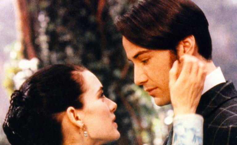 Keanu Reeves e Winona Ryder in Dracula