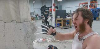 wolverine, artigli, cemento, video