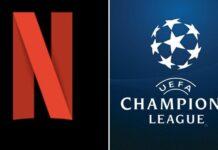Logo netflix e champions