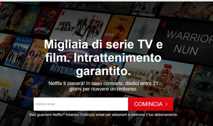 Netflix, soddisfatti o rimborsati, come funziona