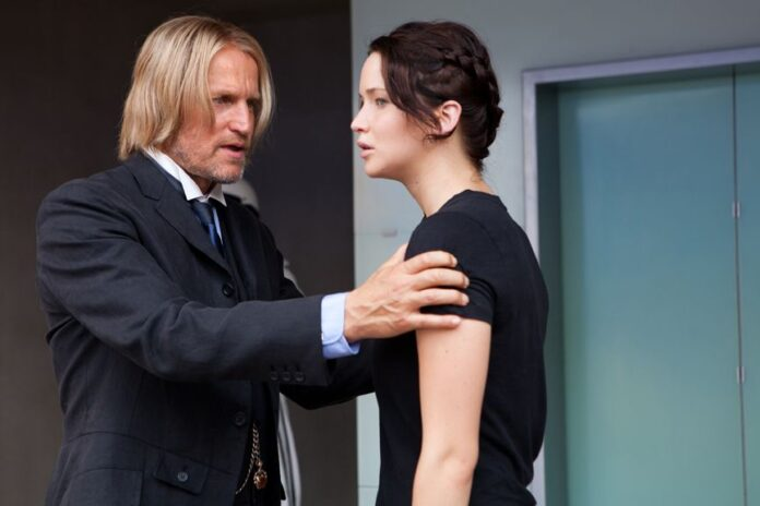 Jennifer Lawrence, Woody Harrelson, hunger games