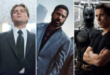 Leonardo DiCaprio, John David Washington e Christian Bale nei film di Christopher Nolan