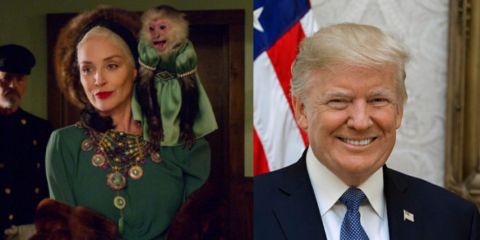sharon stone, donald trump