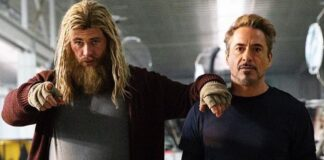 thor iron man, chris hemswort, robert downey jr.