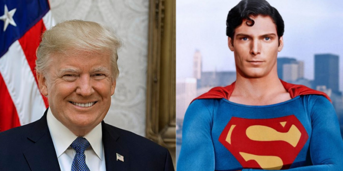 donald trump, superman