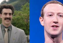 sacha baron cohen, mark zuckerberg