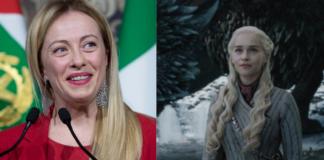 game of thrones, giorgia meloni, daenerys