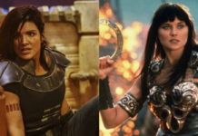 the mandalorian, gina carano, lucy lawless